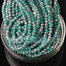 Wholesale 1000pcs/lot 4mm Rondelle Faceted Crystal Glass Loose Spacer Beads