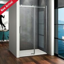 Aica Sliding Shower Enclosure Door and Tray 1200x900 Frameless Glass Screen