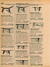 1961 ADVERT 5 PG Hubley Toy Gun Holster Sets Civil War Colt .45 Red Fox Missile