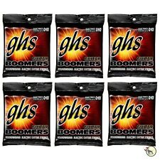 6-Pack GHS Electric Boomers GBTNT Thin/Thick Nickel Steel Guitar Strings 10-52