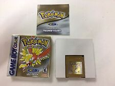 POKEMON GOLD VERSION save works COMPLETE NINTENDO GAMEBOY COLOR GAME BOY NES HQ
