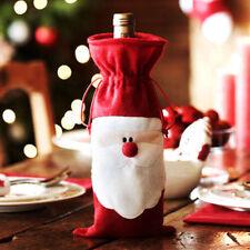 1 Stück Weihnachts Santa Weinflaschen Sack Tashen Flaschentüte Weihnachtsdeko