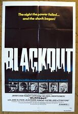 """City without Lights & Terror to Apartment Dwellers """"BLACKOUT"""" movie poster"""