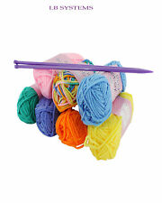 Craft Knitting Starter Kit De 5mm Agujas Color 7 Bolas De Lana Hobby hilados Set 20 G