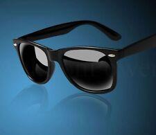 Sommer Trend Sonnenbrille 100% SCHWARZ Unisex Retro Style Wayfarer Design NEU