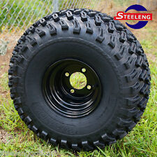 "GOLF CART 8""X7"" BLACK STEEL WHEELS and 22"" ALL TERRAIN TIRES (SET OF 4)"
