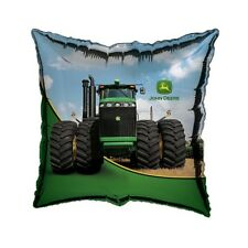 "18"" John Deere Farm Tractor Happy Birthday Party Square Foil Balloon"
