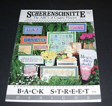 SCHERENSCHNITTE COUNTED CROSS STITCH LEAFLET BOOK ABC'S OF COUNTRY FLOWERS 1988