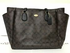 NWT Coach F35414 Signature Multifunction Tote Laptop Baby Diaper Bag
