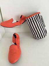 Women's Henri Bendel Orange Sole Ambition Leather Loafer Size 8