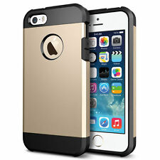 Slim Armor 2-Piece Hybrid Shock Proof Case Cover for Apple iPhone 4s 5c 6 6plus
