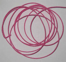 10m spool of pink waxed cotton cord, 1.5mm diameter for jewellery & other crafts