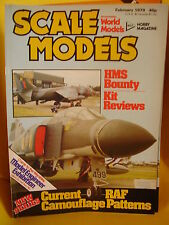 SMI SCALE MODELS INTERNATIONAL FEBRUARY 1979 HMS BOUNTY MCDONNELL DOUGLAS DC9
