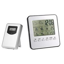 Wireless Weather Clock LCD Digital Thermometer Hygrometer Indoor Outdoor I3N2