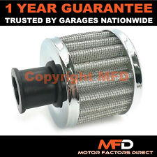 CAR MOTORCYCLE QUAD BIKE 18MM SILVER ROUND CRANK CASE ENGINE BREATHER FILTER