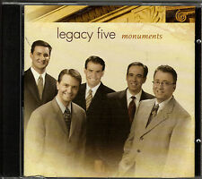 """LEGACY FIVE....""""MONUMENTS""""""""......NEW HTF FACTORY SEALED  GOSPEL CD"""