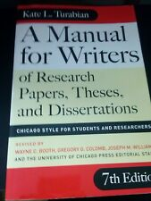 A Manual for Writers of Research Papers, Theses, and Dissertations : Chicago...