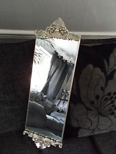 french Style wall mirror ornate Silver Mouldings