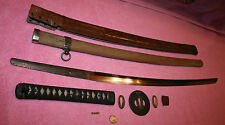 Very Old Signed Samurai Sword made into Officers WW2 Sword