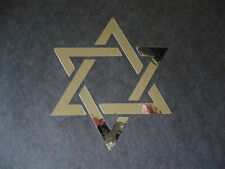 Star of David in Chrome #2 Vinyl Window Laptop Decal Car Bumper Sticker 4""