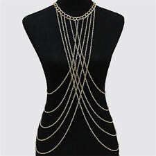 1Pc Metal Tassel Crossover Waist Body Chain Women Girls Jewelry Accessories