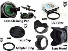 FK25u Lens Hood + Cap + Adapter FA-DC67A + UV Filter for Canon Powershot SX60 HS