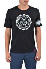 Vivienne Westwood Men's Black Graphic Crewneck Short Sleeve T-Shirt US XL IT 54