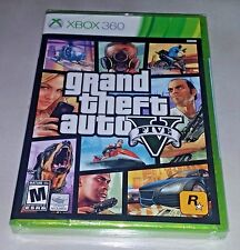 Grand Theft Auto V 5 - Xbox 360 - Brand New & Factory Sealed !!