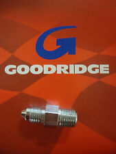 GOODRIDGE CHROME MALE BRAKE LINE FITTING 1/8 NPT AN3 STRAIGHT BIG DOG HARLEY AIH