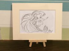 Disney Little Mermaid Concept Art - Ariel Pencil Sketch in Mount - Original Art