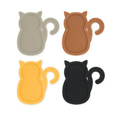 True Fabrications TrueZoo Cat Wine Glass Party Plate - Set of 4