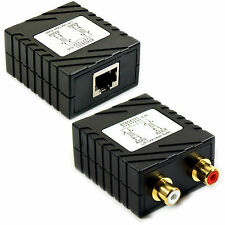 2 Rca Cable De Audio Extensor Balun-hasta 300 M Cat5e/Cat6-Phono de larga distancia