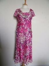 CC Silk Dress 10 Summer Wedding Party Occasion Cruise Races Country Casuals
