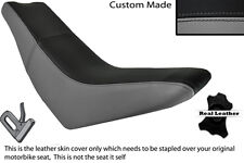 BLACK & GREY CUSTOM FITS HUSQVARNA TE 610 E DUAL LEATHER SEAT COVER