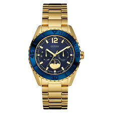 NEW GUESS WATCH for Women * Dark Blue Dial * Gold Tone * Moon Phase * U0565L4
