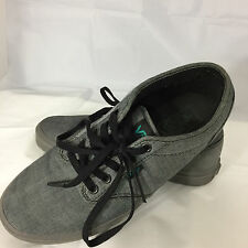 Vans Off The Wall Gray On Gray Authentic Men's 9 Women's 11 Canvas Shoes EUC