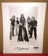 NIGHTWISH Official 8x10 Promotional Press Photo - 2003 with Tarja Turunen - RARE