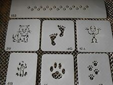 Airbrush Temporary Tattoo Stencil Set 34 Paw Prints New by Island Tribal!