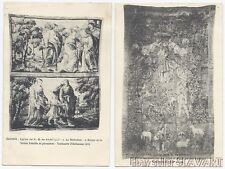 POSTCARD LOT antique French tapestry art Saumur Nantilly church 1619 angels old
