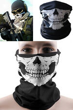 Skull Bandana Skeleton Motorcycle Paintball Scarf Pretend Half Face Mask