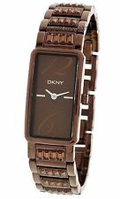 New DKNY Steel Brown Women Dress Watch -hairline scratch on the case- NY4203D2