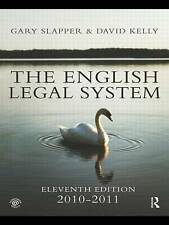 The English Legal System: 2010-2011 by Gary Slapper, David Kelly (Paperback,...