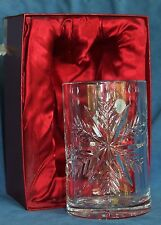 """Waterford SNOW Flake CRYSTALS 6"""" Pillar Christmas Candle Hurricane Shade 128585"""