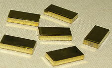 LEGO LOT OF 6 CHROME GOLD 1 X  2 TILES BARS PIRATE TREASURE PIECES