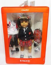 "FAO SCHWARZ ""CLAUDIA"" 18"" Vinyl Doll by GOTZ in Fabric Collector Box PRISTINE"