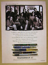 1995 Friends tv show Writers writing staff photo Waterman Pens vintage print Ad