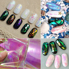 5Pcs Holographic Nail Foils Starry Sky Glitter Foils Nail Art Transfer Sticker
