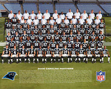 2008 CAROLINA PANTHERS FOOTBALL 8X10 TEAM PHOTO PICTURE