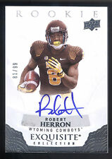 2013 Exquisite Draft Picks #RH Robert Herron On Card Autograph #81/99 WYOMING