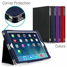 CaseCrown Bold Standby Pro Stand Case for Apple iPad Air Corner Protection- Blue